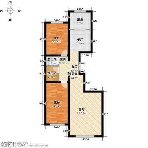水泉文苑2室0厅1卫1厨109.00㎡户型图