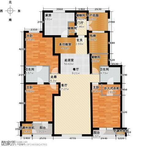 大将作3室0厅2卫1厨166.00㎡户型图