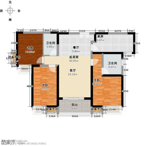 紫薇曲江意境3室0厅2卫1厨135.00㎡户型图