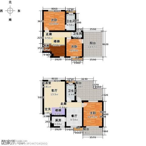 国际时代广场4室0厅3卫1厨200.00㎡户型图