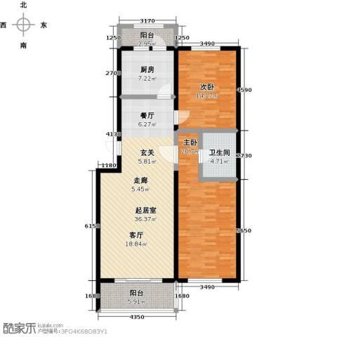 万豪长隆湾2室0厅1卫1厨105.00㎡户型图