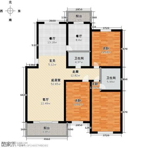 万豪长隆湾3室1厅2卫0厨146.00㎡户型图