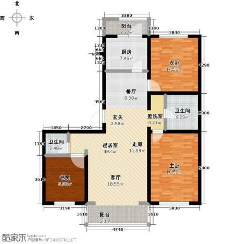 万豪长隆湾3室0厅2卫1厨127.00㎡户型图