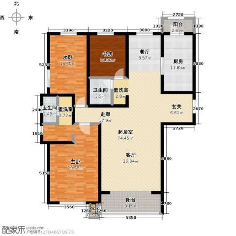 万豪长隆湾3室0厅2卫1厨185.00㎡户型图