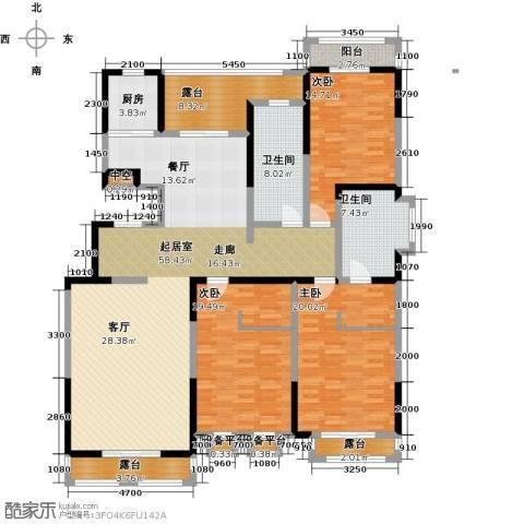 雅荷蓝湾3室0厅2卫1厨167.00㎡户型图