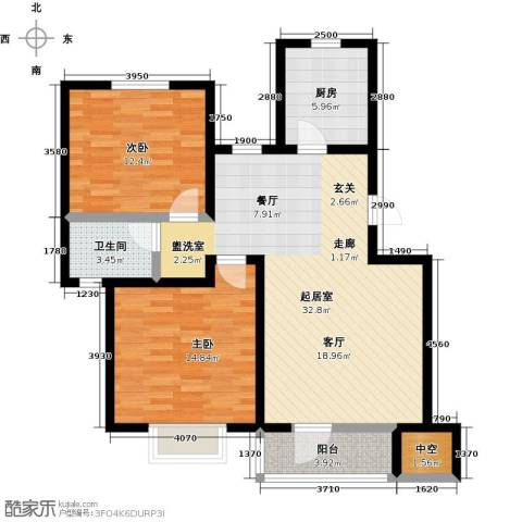 幸福里程2室0厅1卫1厨92.00㎡户型图