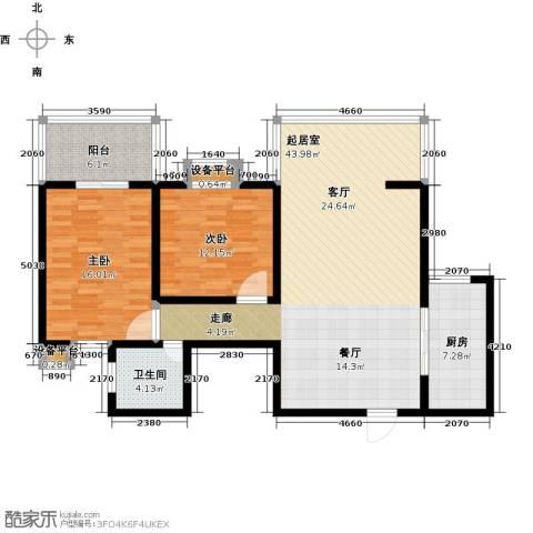 世纪锦绣2室0厅1卫1厨103.00㎡户型图