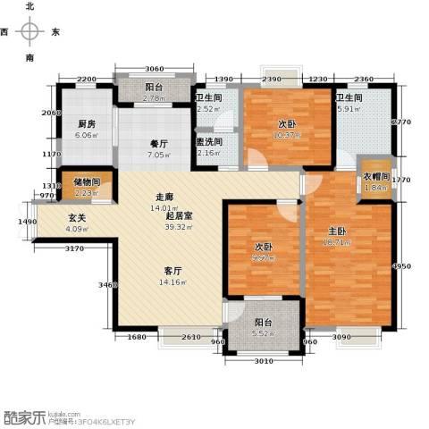 曲江观山悦3室0厅2卫1厨147.00㎡户型图