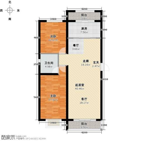 水泉文苑2室0厅1卫1厨128.00㎡户型图