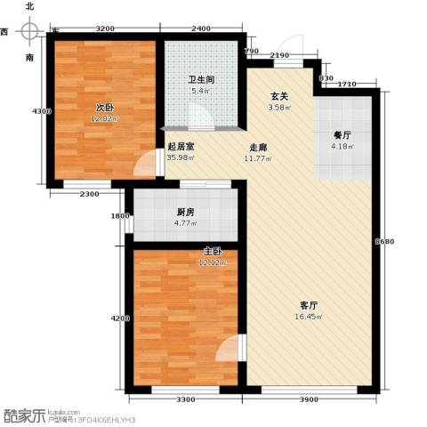 水泉文苑2室0厅1卫1厨101.00㎡户型图