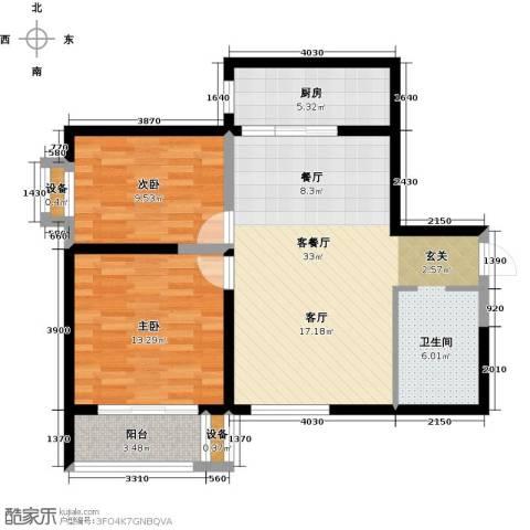 简约花园2室1厅0卫1厨98.00㎡户型图