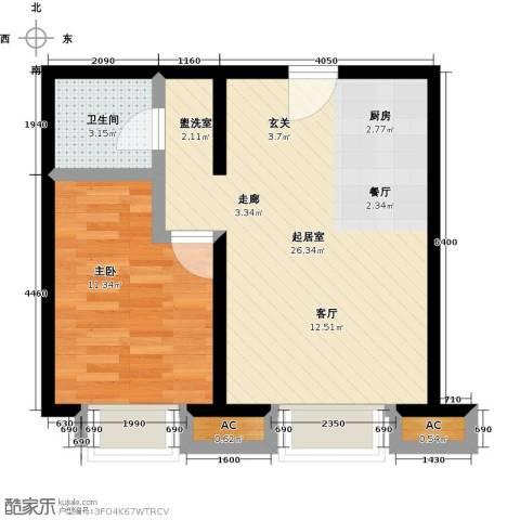 卓然京都1室0厅1卫0厨51.00㎡户型图