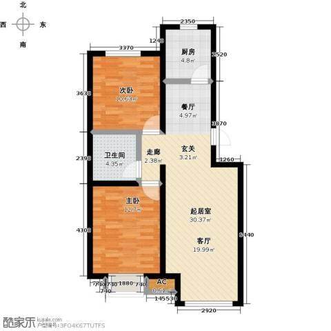 卓然京都2室0厅1卫1厨85.00㎡户型图