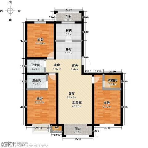 卓然京都3室0厅2卫1厨132.00㎡户型图