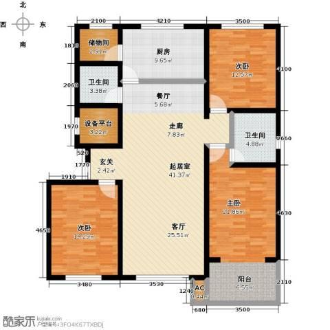 万豪长隆湾3室0厅2卫1厨145.00㎡户型图