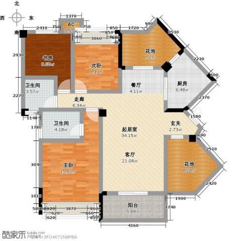 观澜御苑3室0厅2卫1厨119.00㎡户型图