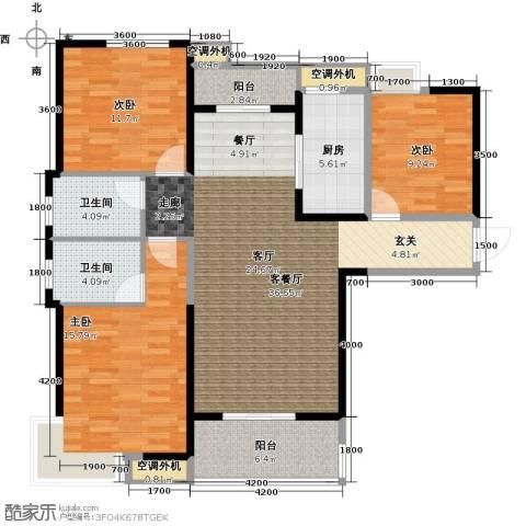 联发九都府3室1厅2卫1厨132.00㎡户型图