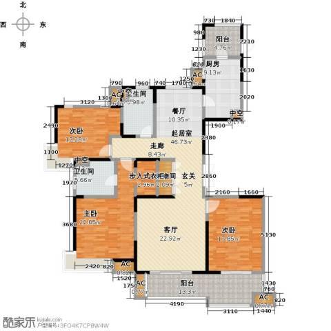 中星湖滨城四期3室0厅2卫1厨206.00㎡户型图
