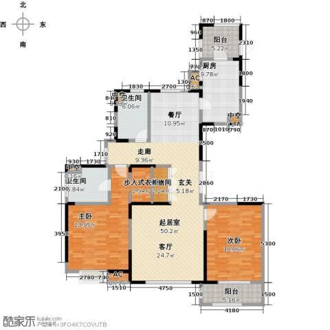 中星湖滨城四期2室0厅2卫1厨182.00㎡户型图