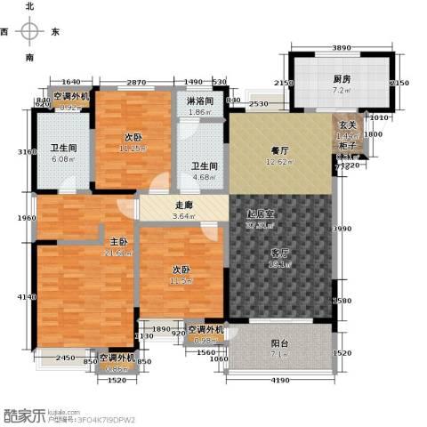 九龙仓玺园3室0厅2卫1厨135.00㎡户型图