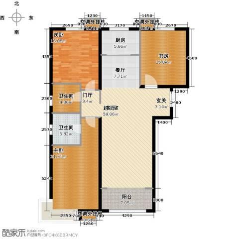 金宇新天地3室0厅2卫1厨138.00㎡户型图
