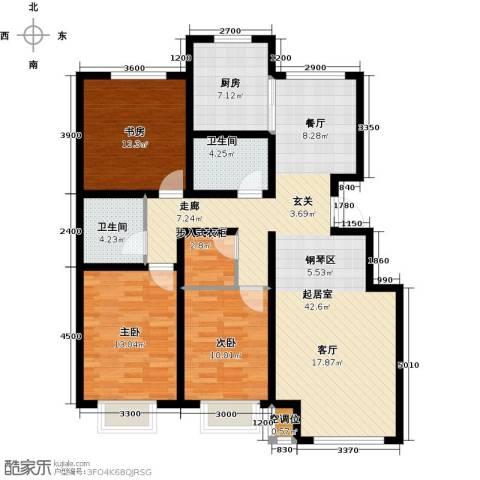 泰戈多立方3室0厅2卫1厨111.68㎡户型图