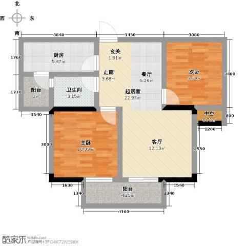 观澜御苑2室0厅1卫1厨75.00㎡户型图