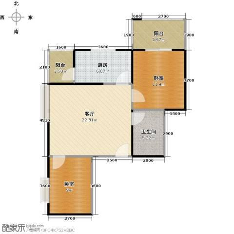 天玺国际1厅1卫1厨70.00㎡户型图