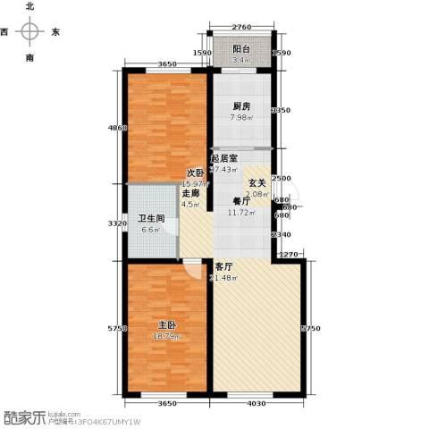 大将作2室0厅1卫1厨102.00㎡户型图