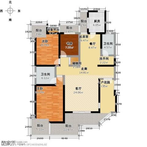 九锦台3室0厅2卫1厨178.00㎡户型图