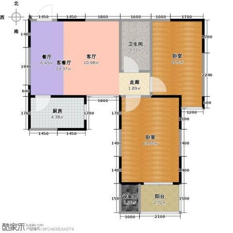金泰怡景花园1厅1卫1厨59.65㎡户型图