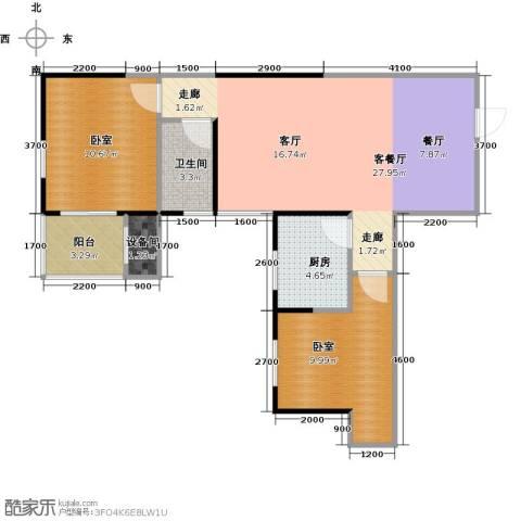 金泰怡景花园1厅1卫1厨66.19㎡户型图