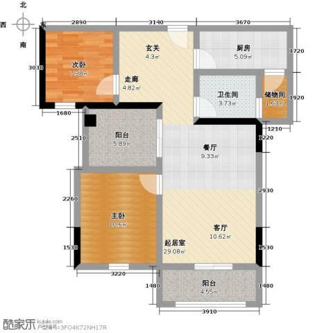 观澜御苑2室0厅1卫1厨84.00㎡户型图