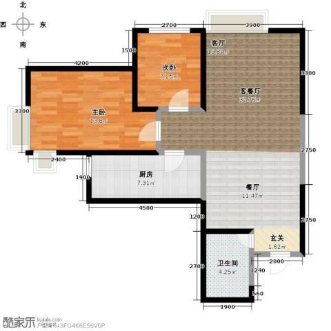 艾博都泊林2室1厅1卫1厨98.00㎡户型图