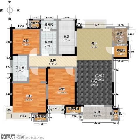 九龙仓玺园3室0厅2卫1厨120.00㎡户型图
