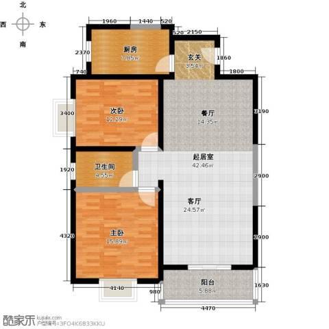 世纪锦绣2室0厅1卫1厨101.00㎡户型图