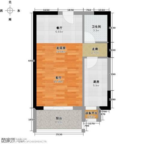 紫薇曲江意境1卫1厨55.00㎡户型图