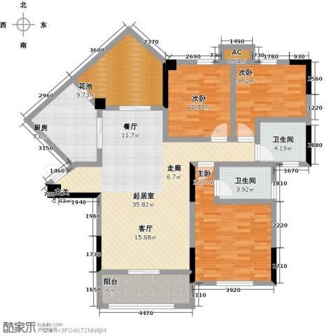观澜御苑3室0厅2卫1厨120.00㎡户型图