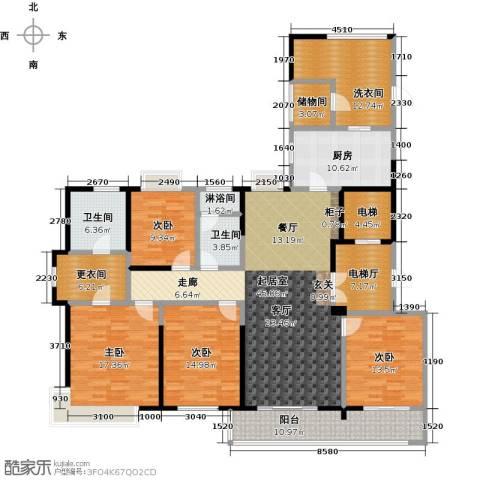 九龙仓玺园4室0厅2卫1厨189.00㎡户型图