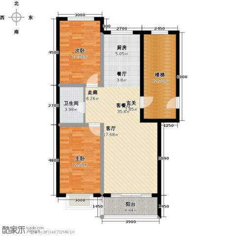 俪城2室1厅1卫0厨90.00㎡户型图