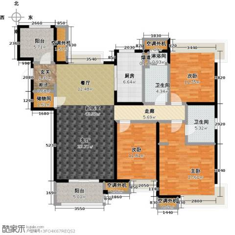 九龙仓玺园3室0厅2卫1厨140.00㎡户型图