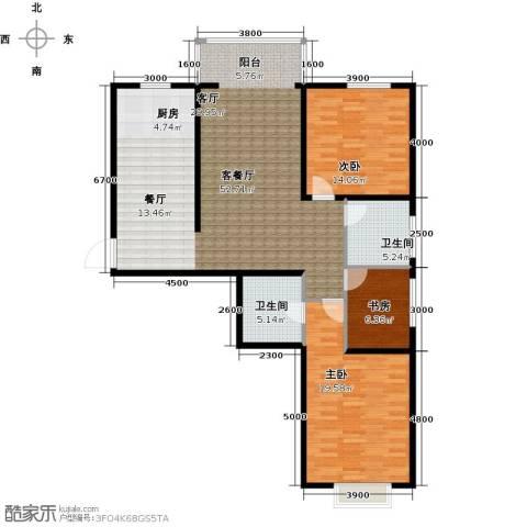 金宇钻石3室1厅2卫0厨113.39㎡户型图