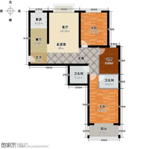 奇源尚层3室0厅2卫0厨133.00㎡户型图