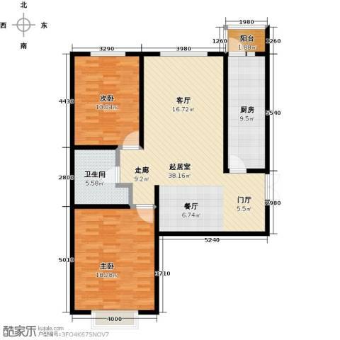 城市维也纳2室0厅1卫1厨97.00㎡户型图