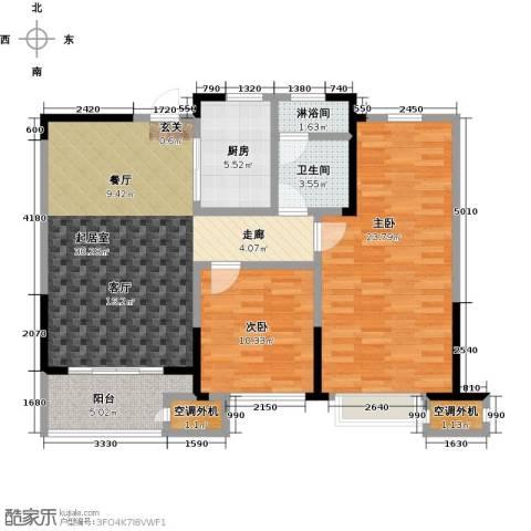 九龙仓玺园2室0厅1卫1厨97.00㎡户型图