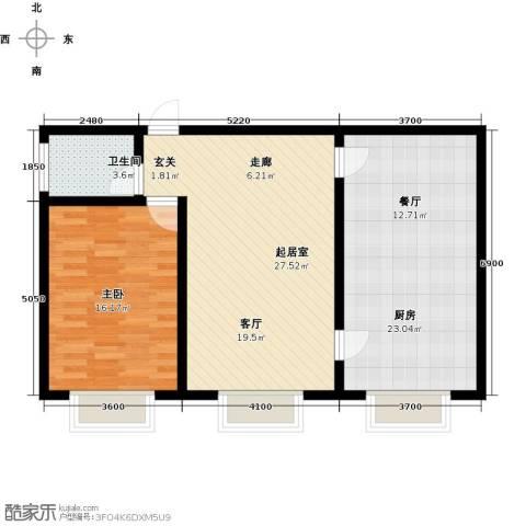 银座嘉园1室0厅1卫1厨92.00㎡户型图