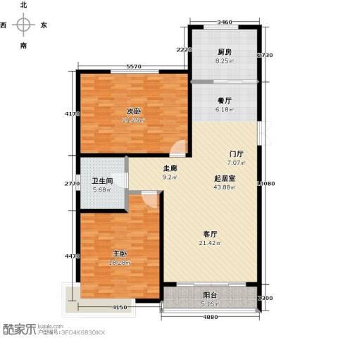城市维也纳2室0厅1卫1厨113.00㎡户型图