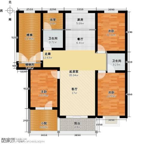 新安家园3室0厅2卫1厨157.00㎡户型图