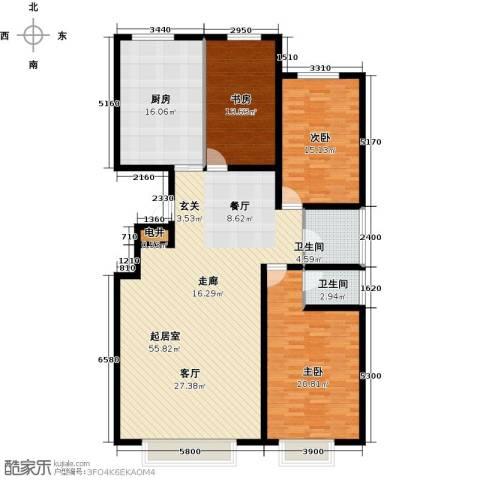 银座嘉园3室0厅2卫1厨158.00㎡户型图