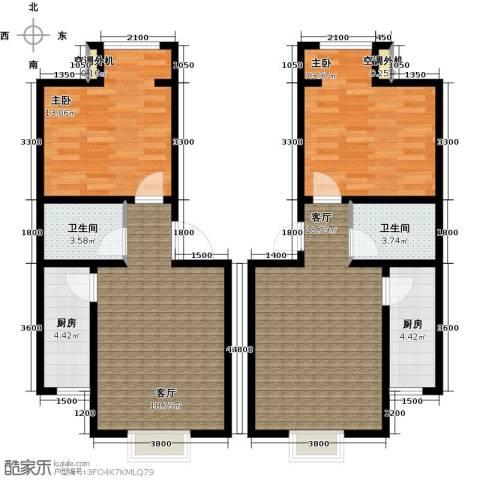 水郡花洲2室2厅2卫2厨115.00㎡户型图